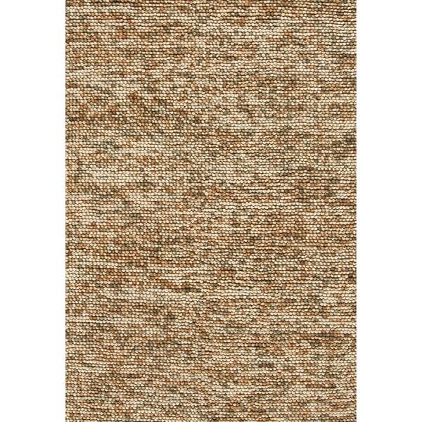 Hand-woven Avani Beige/ Brown New Zealand Wool Rug