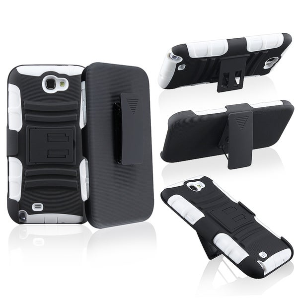 BasAcc Hybrid Holster with Stand for Samsung Galaxy Note II N7100