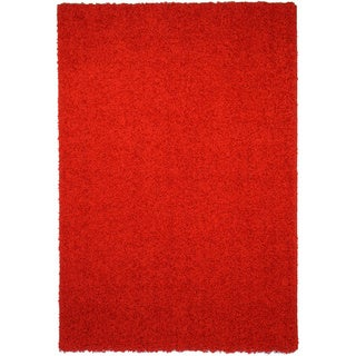 Shag Solid Red Area Rug (6'7 x 9'3)