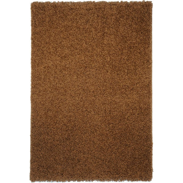 Shag Solid Brown Area Rug (3'3 x 4'7)
