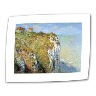 Claude Monet 'Cliffs' Flat Canvas Art