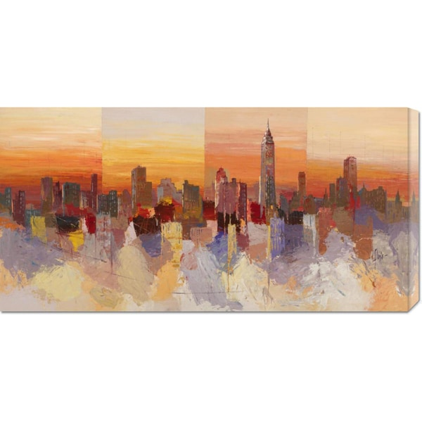 Global Gallery Luigi Florio 'Sognando New York' Stretched Canvas