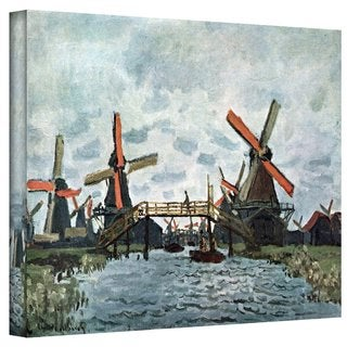 Claude Monet 'Windmills' Gallery Wrapped Canvas