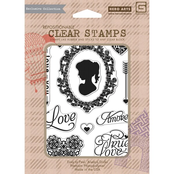 Basic Grey True Love Clear Stamp By Hero Arts-True Love