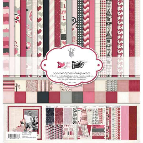 """Love Note Collection Kit 12""""X12""""-"""