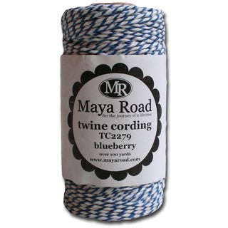 Twine Cording 100 Yards/Roll-Blueberry