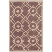 Hand-tufted Laren Green New Zealand Wool Area Rug - 2' x 3'