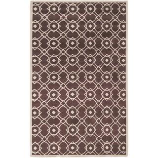 Hand-tufted Laren Brown Wool Rug (9' x 13')