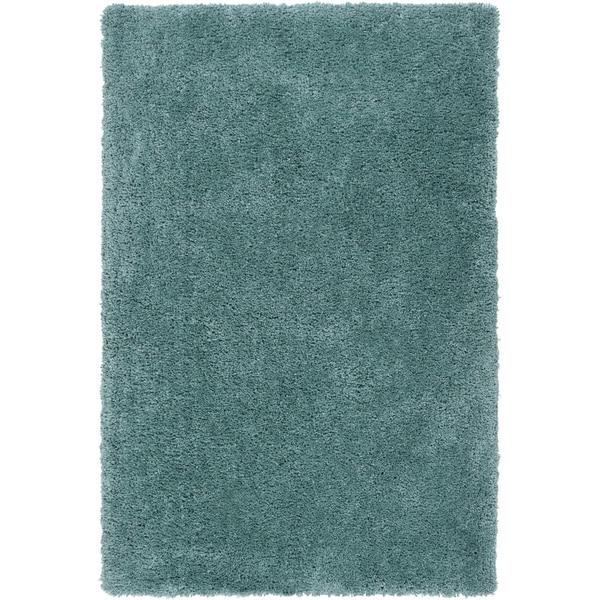 Hand-tufted Kampen Dark Robin's Egg Blue Soft Plush Shag Rug (2' x 3')