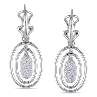 Miadora 14k White Gold 1/3ct TDW Diamond Earrings