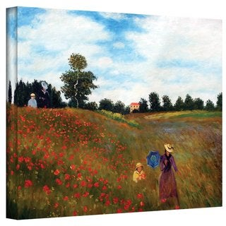 Claude Monet 'Red Poppies at Argenteuil' Gallery Wrapped Canvas