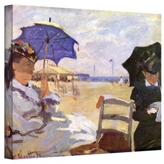 Claude Monet 'The Beach' Gallery Wrapped Canvas