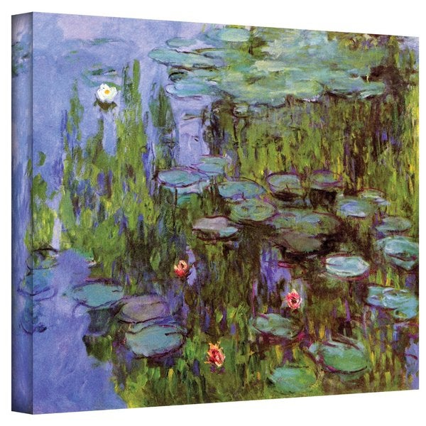 Claude Monet 'Sea Roses' Gallery Wrapped Canvas