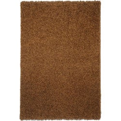 Shag Solid Brown Area Rug (6'7 x 9'3)