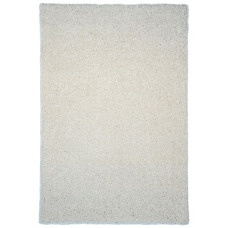 Shag Solid Ivory Area Rug (6'7 x 9'3)