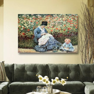 Claude Monet 'Mother and Child' Gallery Wrapped Canvas
