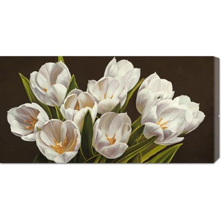 Global Gallery Serena Biffi 'Bouquet di tulipani' Stretched Canvas