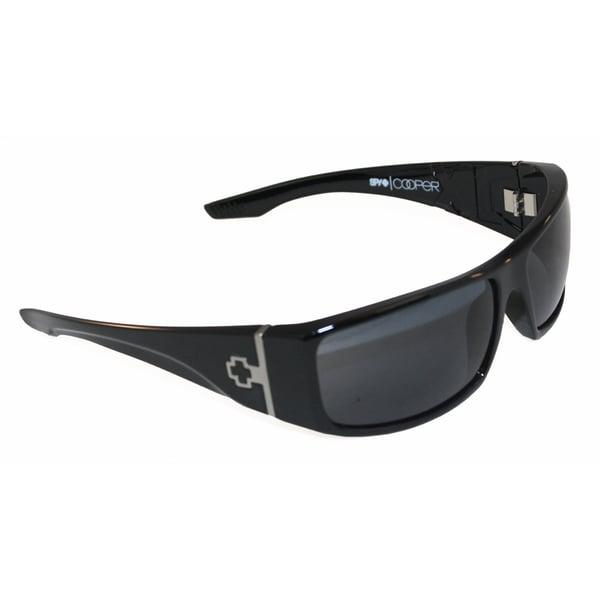 Mens Spy Sunglasses  spy optic men s cooper xl black wrap sunglasses free shipping