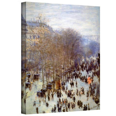 Claude Monet 'Boulevard Capucines' Gallery Wrapped Canvas - Multi