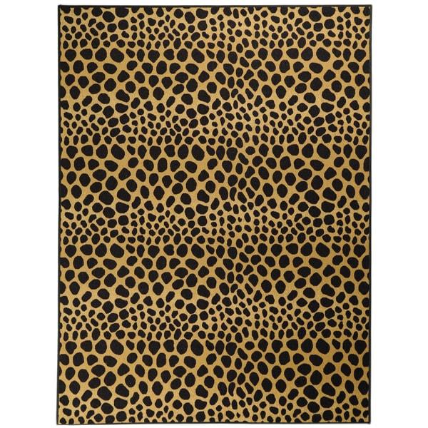 Non-Skid Ottohome Leopard Print Area Rug (3'3 x 5')