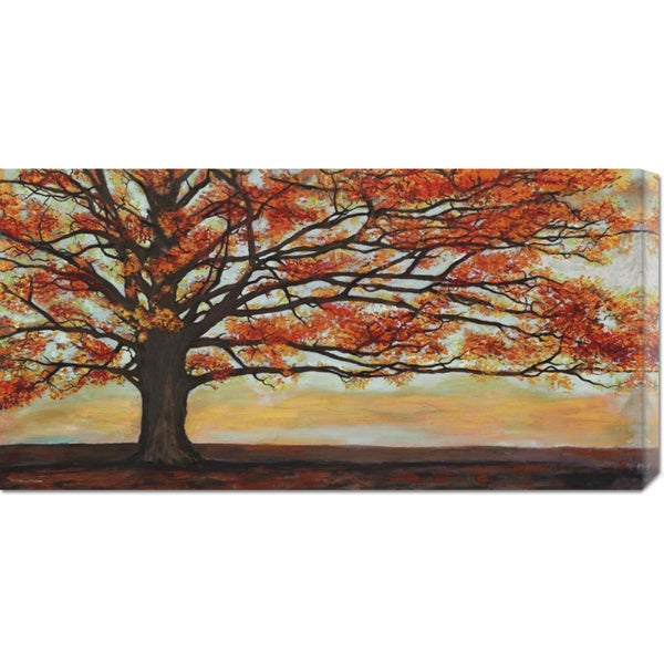 Global Gallery, Jan Eelder 'Red Oak' Stretched Canvas