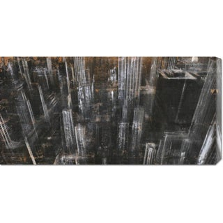 Global Gallery Dario Moschetta 'NYC Aerial 1' Stretched Canvas