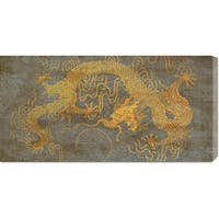 Global Gallery Joannoo 'Golden Dragon' Stretched Canvas