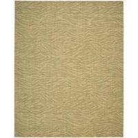 Cosmopolitan Beige / Green Tiger Print Rug - 8'3 x 11'3