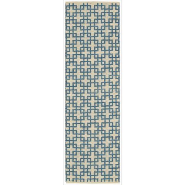 Barclay Butera Maze Indigo Area Rug by Nourison (3'6 x 5'6)
