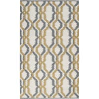 Hand-woven Garrison White Wool Area Rug - 8' x 11'