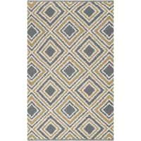 Hand-woven Tioga Gold Wool Area Rug - 8' x 11'