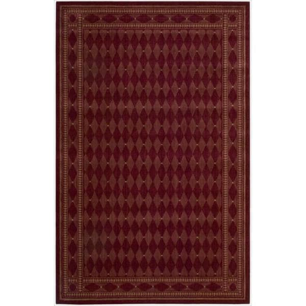 Cosmopolitan Burgundy Diamond Print Rug (8'3 x 11'3)
