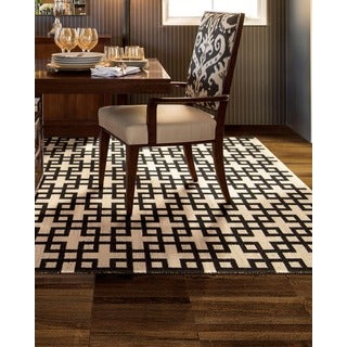 Barclay Butera Maze Midnight Area Rug by Nourison (3'6 x 5'6)