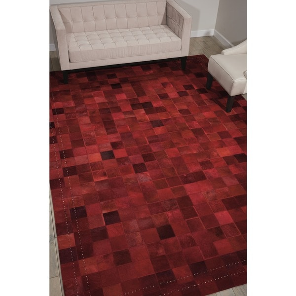 Barclay Butera Medley Scarlet Area Rug by Nourison - 5'3 x 7'5