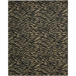 Cosmopolitan Midnight Tiger Print Rug (8'3 x 11'3)