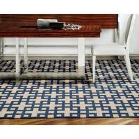 Barclay Butera Maze Indigo Area Rug by Nourison - 5'3 x 7'5