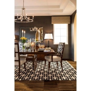 Barclay Butera Maze Midnight Area Rug by Nourison (5'3 x 7'5)