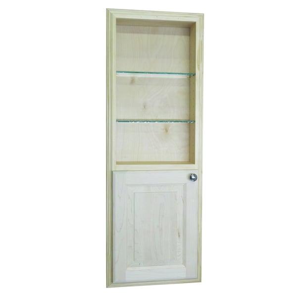 Recessed bathroom cabinet