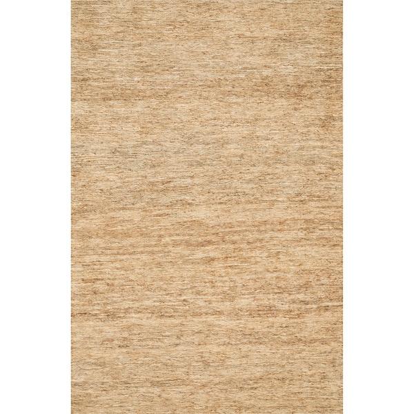 Hand-woven Natura Beige Jute Rug (5' x 7'6)