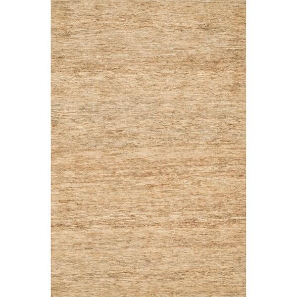 Hand-woven Natura Beige Jute Rug (7'10 x 11')