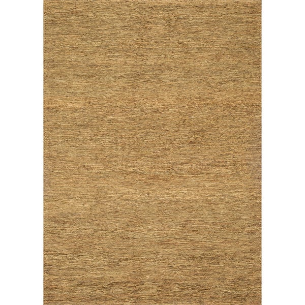 Hand-woven Natural Brown Earth-tone Jute Area Rug - 5' x 7'6