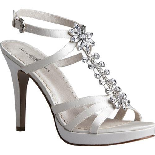 Women's Allure Bridals Shine Diamond White Silk Satin