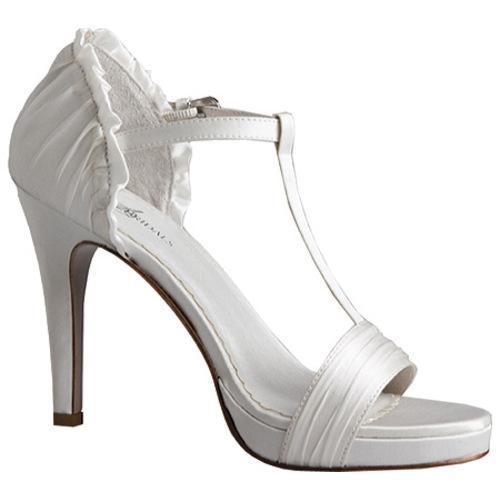 Women's Allure Bridals Supreme Diamond White Silk Satin