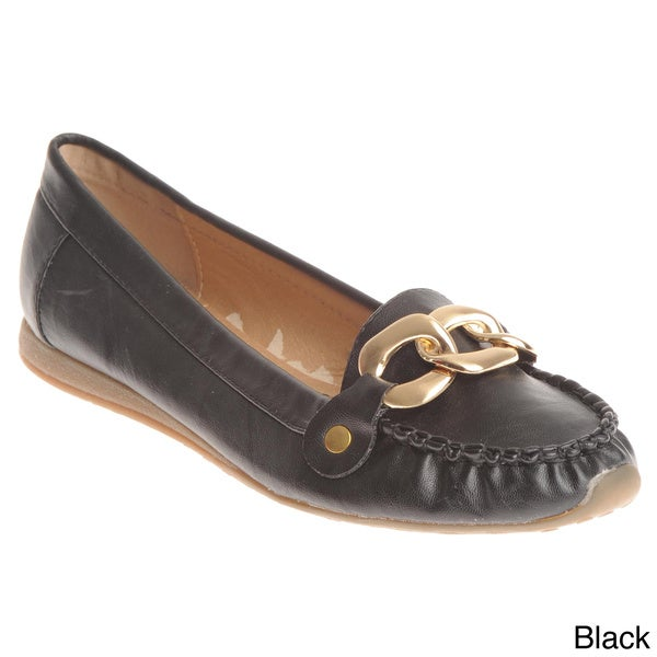 Henry Ferrera Women's Chain Detail Loafer Flats