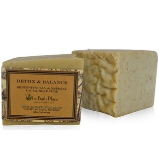 The Bath Place Detox & Balance Handcrafted Bentonite Clay and Oatmeal Soap Duo (Set of 2)