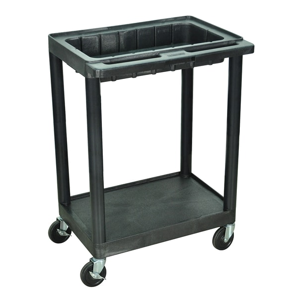 Luxor Black 2-shelf Utility Cart
