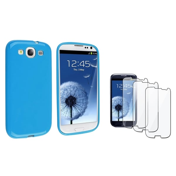 INSTEN TPU Phone Case Cover/ Screen Protector for Samsung Galaxy S III/ S3