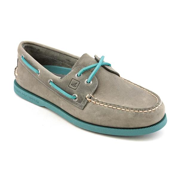Sperry Top Sider Men's 'A/O 2-Eye Neon' Leather Casual Shoes