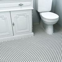 SomerTile 10.75x11.75-inch Victorian Square Offset White Porcelain Mosaic Floor and Wall Tile (10 tiles/9.17 sqft.)
