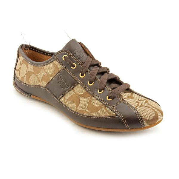 coach s suee leather casual shoes size 8 free